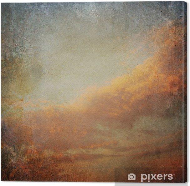 Quadro su Tela Vintage sfondo con le nuvole nel cielo - Stili