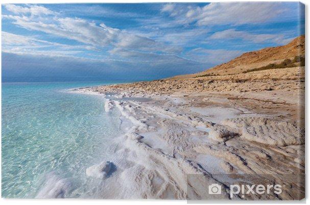 Quadro su Tela Vista del litorale del Mar Morto - Acqua