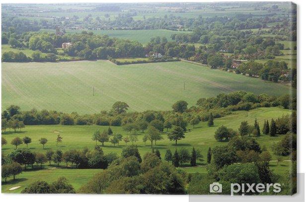 Quadro su Tela Vista sulla valle di Aylesbury e Coombe villaggio - Campagna