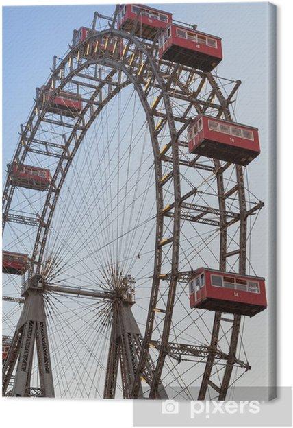 Quadro su Tela Wiener Riesenrad, ruota panoramica del Prater, Vienna - Città europee