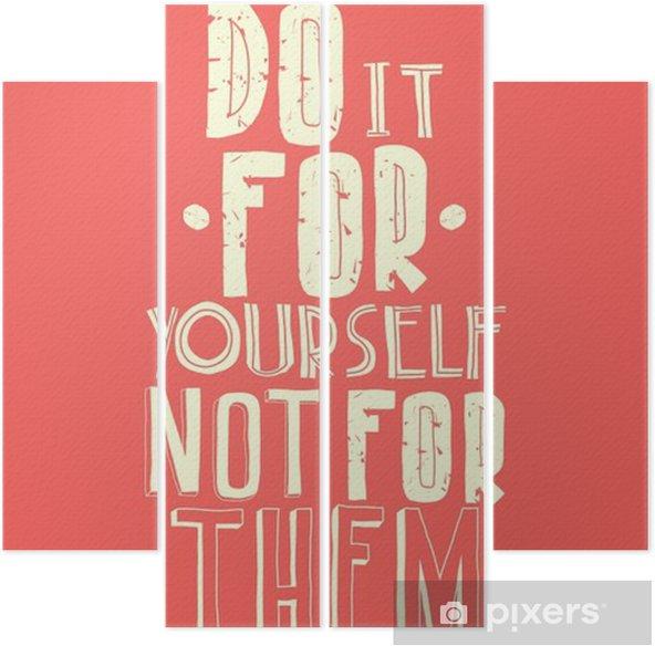 Quadríptico Citação, cartaz inspirado, design tipográfico - Negócios