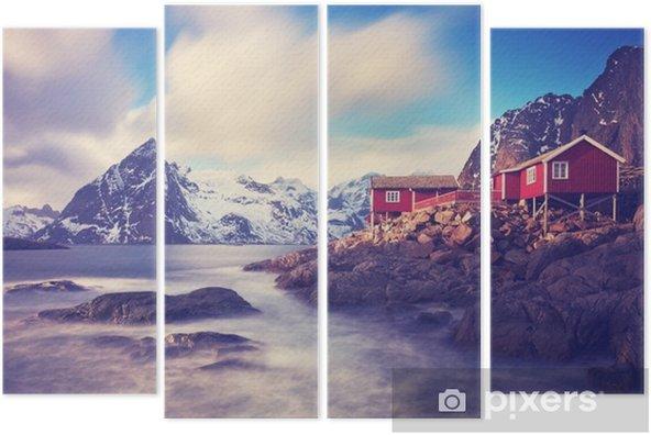 Quadríptico Lofoten im inverno - Paisagens