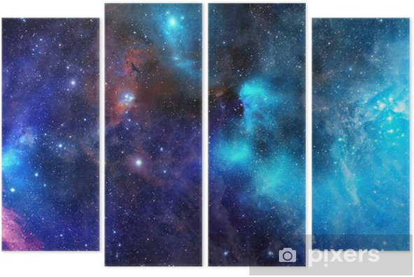 nebula gas cloud in deep outer space Quadriptych - Styles