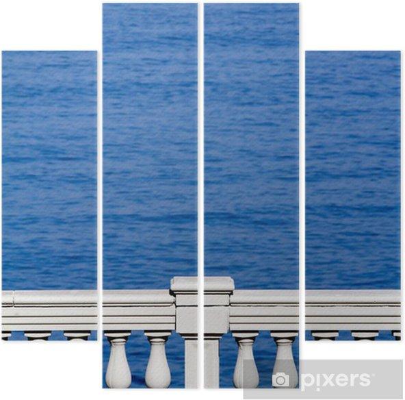 terrazza sul mare Quadriptych - Water