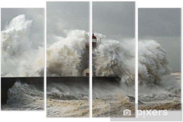 Windy coast Quadriptych - Lighthouse