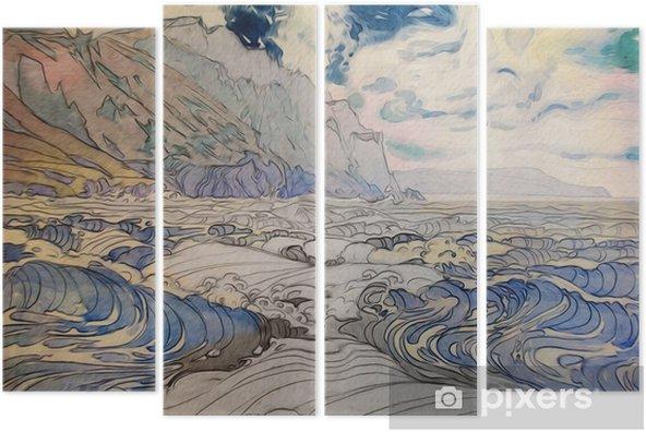 Quadriptychon Морской пейзаж - Landschaften