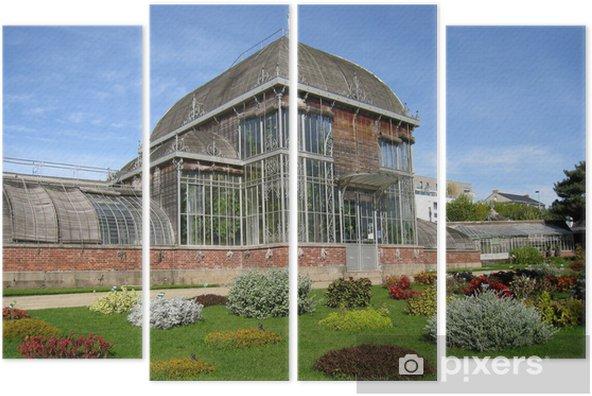 Quadriptychon Serre du jardin botanique de Nantes