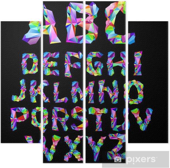 Alphabet Psychédélique quadriptyque alphabet psychédélique • pixers® - nous vivons pour changer