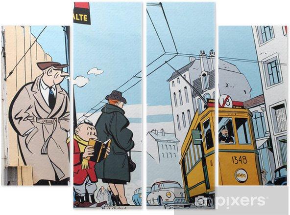 Quadriptyque Peinture murale à Bruxelles - Styles