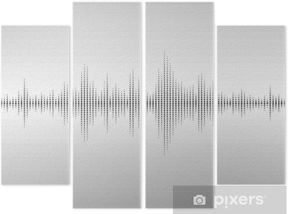 Quadrittico Onde sonore astratte - Tecnologia