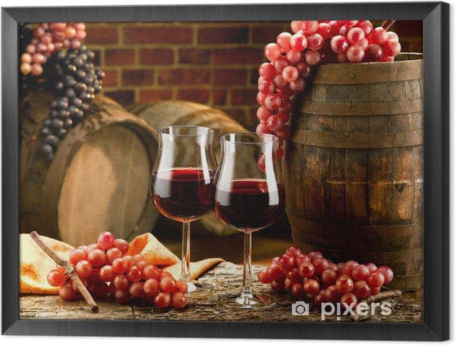 Quadro com Moldura vino - Vinho