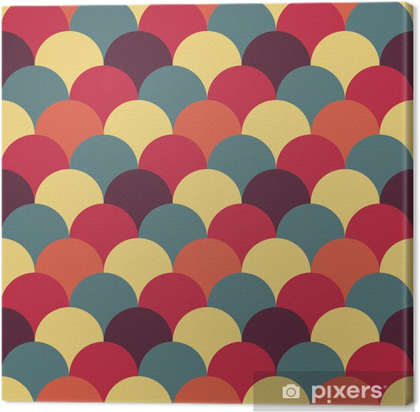 Quadro em Tela abstract retro geometric pattern - Abstrato