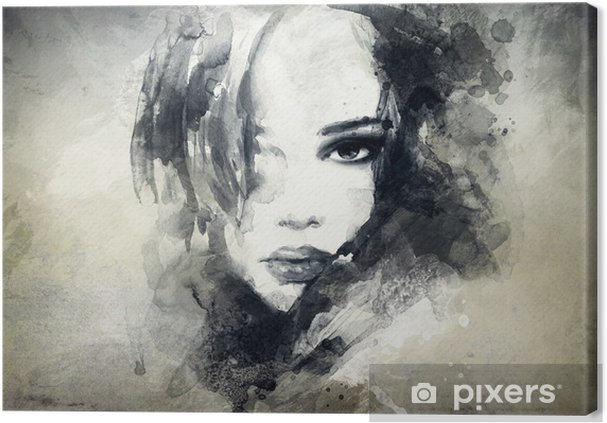 Quadro em Tela abstract woman portrait -