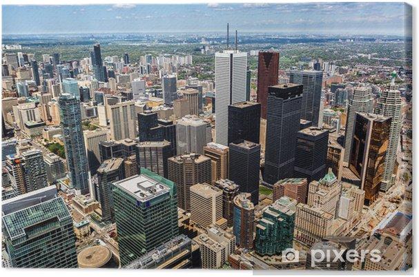 Quadro em Tela Aerial view of the Toronto skyline - América