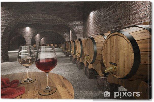 Quadro em Tela Ancient wine cellar - Vinho