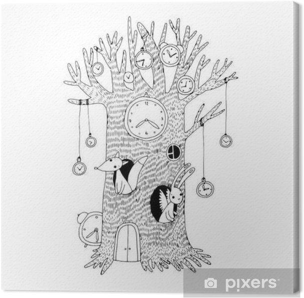 2705d4a836a Quadro em Tela Árvore mágica