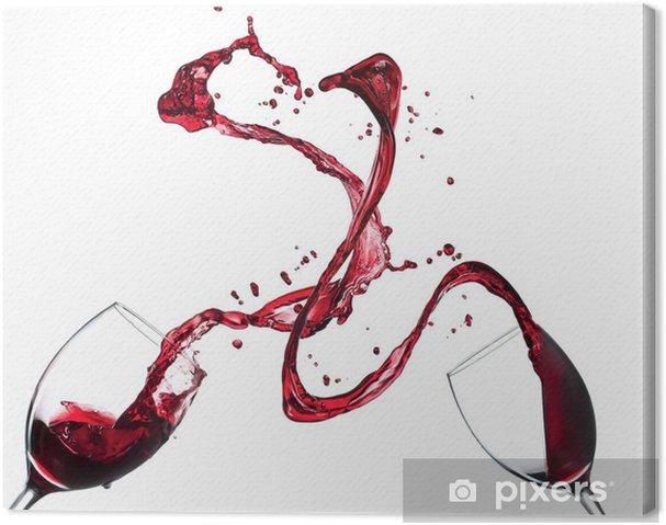 Quadro em Tela Concept of red wine splashing from glasses on white background - Bebidas