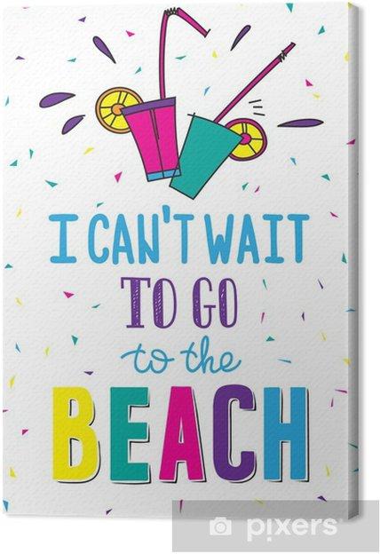 Quadro em Tela Desenhado mão cartaz de verão com Citação - Hobbies e Lazer