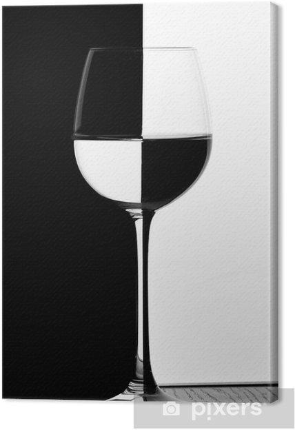 Quadro em Tela domino wine glass -
