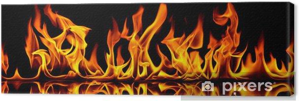 Quadro em Tela Fire and flames. - Texturas