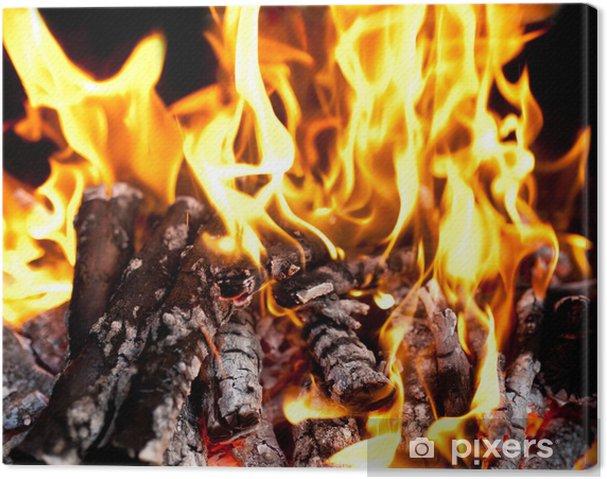 Quadro em Tela Fire - Texturas