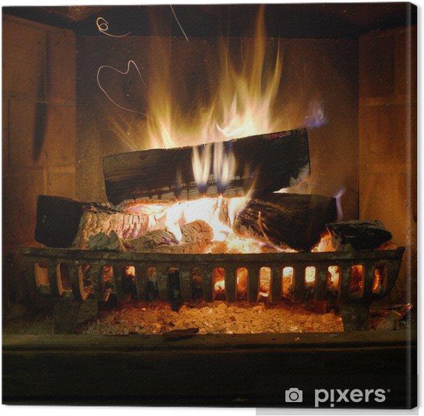 Quadro em Tela Fireplace - Temas