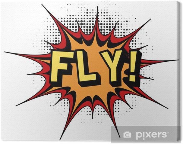 Quadro em Tela Fly.Comic book explosion. - Texturas