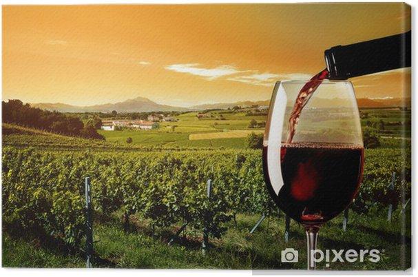 Quadro em Tela glass of red wine - Temas