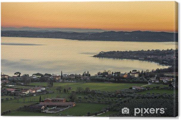 Quadro em Tela Lago di Garda dalla rocca - Outros Outros