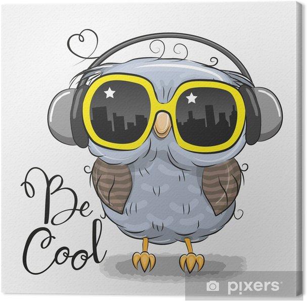 44b27def0cef7 Quadro em Tela Linda coruja com óculos de sol • Pixers® - Vivemos ...