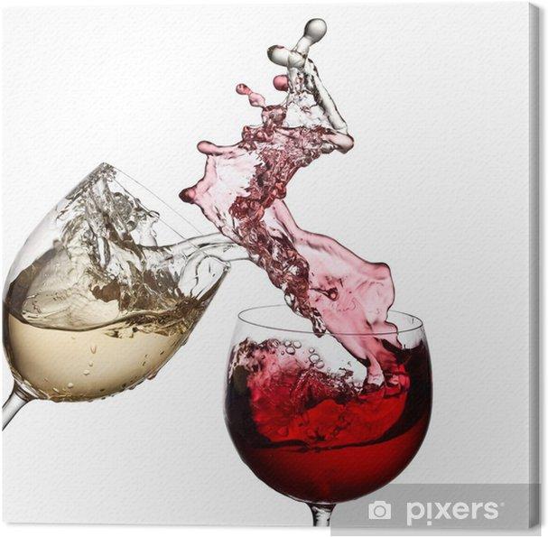 Quadro em Tela Red and white wine up together - Decalque de parede