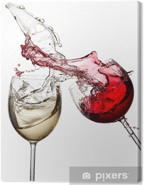 Quadro em Tela Red and white wine up - Decalque de parede