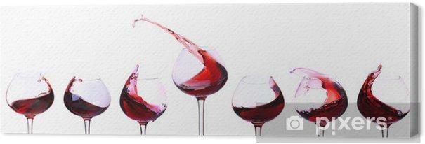 Quadro em Tela Red wine isolated on white - Decalque de parede