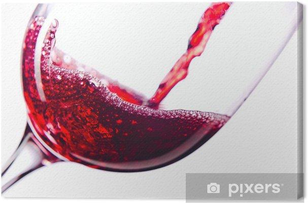 Quadro em Tela Red wine on white background - Temas