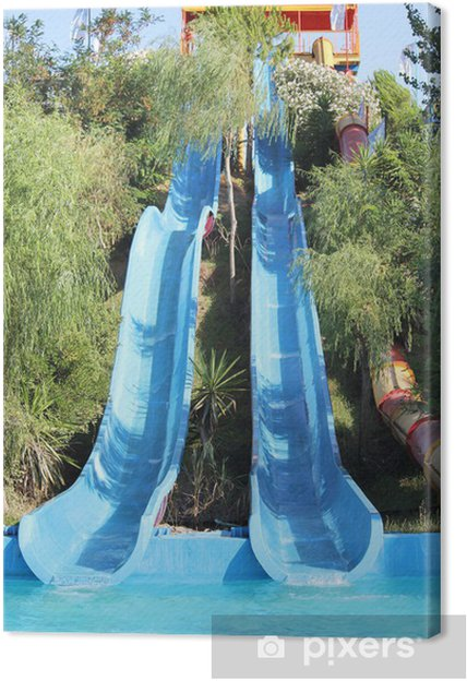 Quadro em Tela slide in the water park