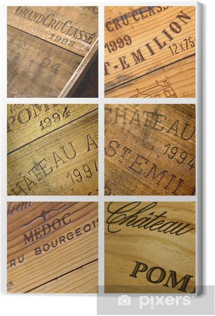 Quadro em Tela Vin, caisse, château, millésime, Bordeaux, chai, cave - Álcool