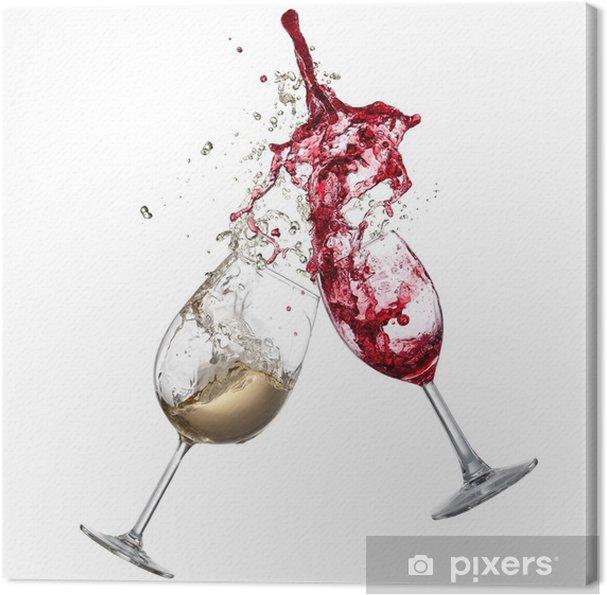 Quadro em Tela White and red wine splash - Temas