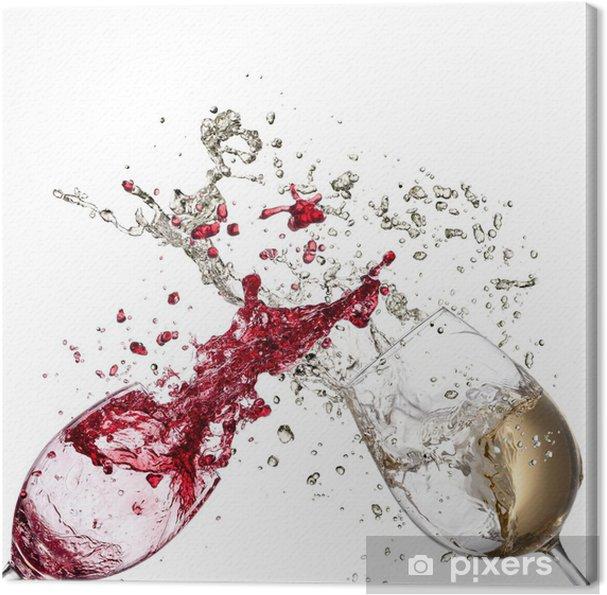 Quadro em Tela White and red wine splash - Decalque de parede