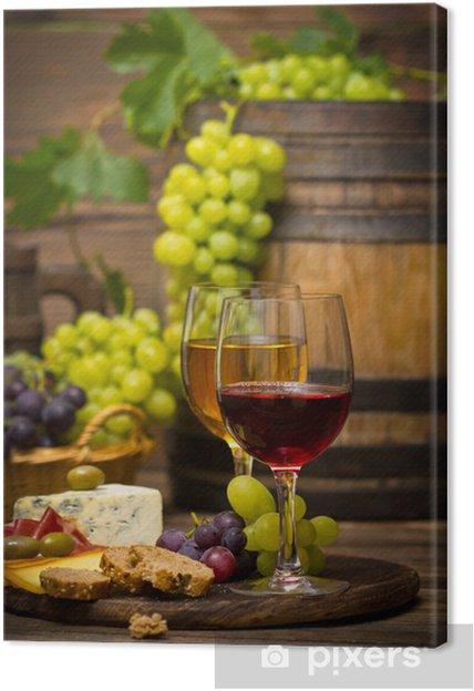 Quadro em Tela Wine and cheese - Temas
