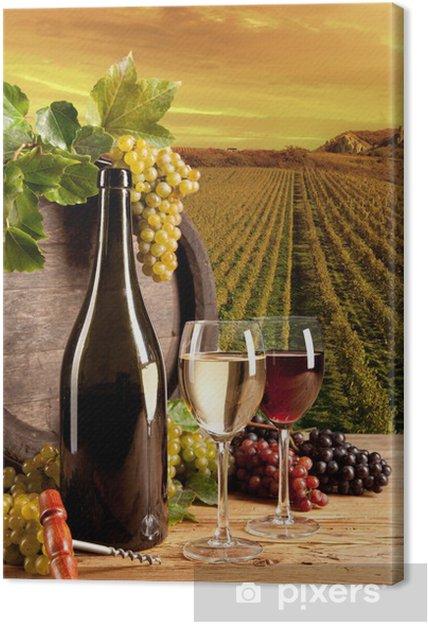 Quadro em Tela Wine in vineyard - Temas