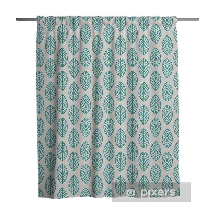 Rideau de douche Seamless pattern avec des feuilles - Plantes et fleurs