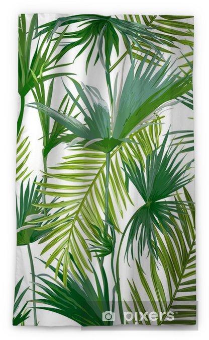 Rideau Occultant Feuilles De Palmiers Tropicaux Jungle Feuilles