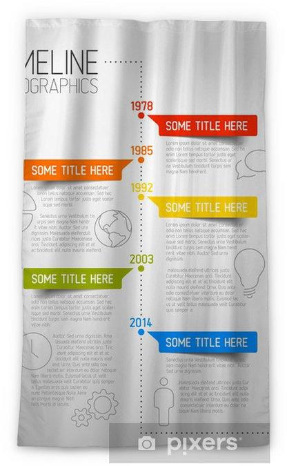 Rideau occultant Infographie modèle de rapport de la chronologie