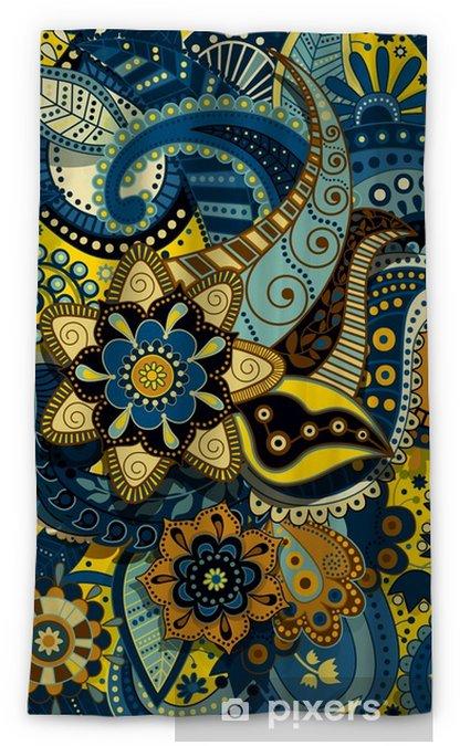 Rideau occultant Modèle sans couture coloré indien - Plantes et fleurs