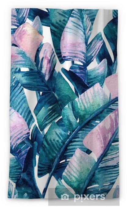 Rideau occultant Modèle sans couture de feuille de banane aquarelle. - Ressources graphiques