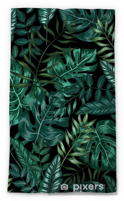 Rideau Occultant Motif Graphique Transparent Tropical Nature Jungle