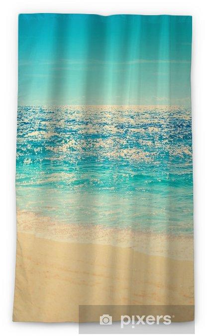Rideau occultant Plage d'été et fond de vague douce. sable et mer. image de vacances d'été tropical en ton vintage de couleur de style hipster. - Paysages