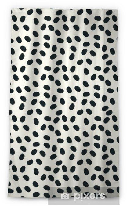 Rideau occultant Points noirs et blancs vectoriels fond de repeint sans couture - Ressources graphiques