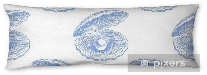 Seitenschläferkissen Nahtlose Muscheln mit Perlen - Tiere