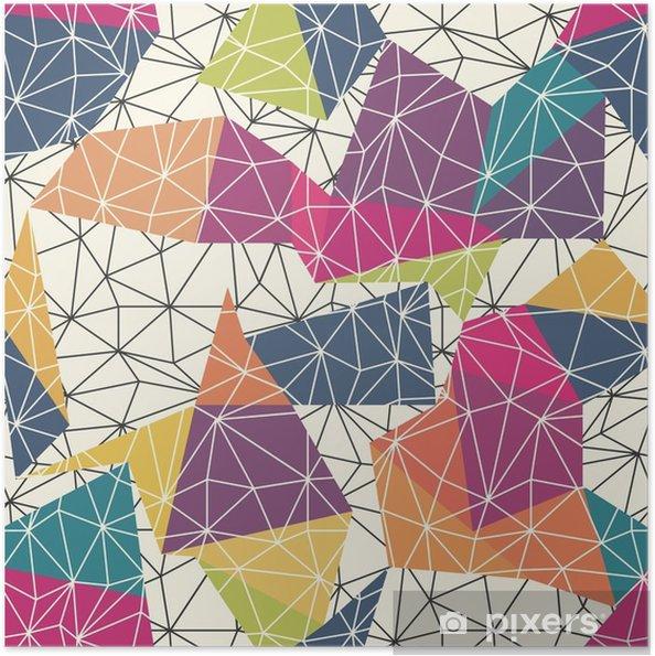 Selbstklebendes Poster Drahtgitter abstrakten Oberfläche Seamless Pattern - Grafische Elemente